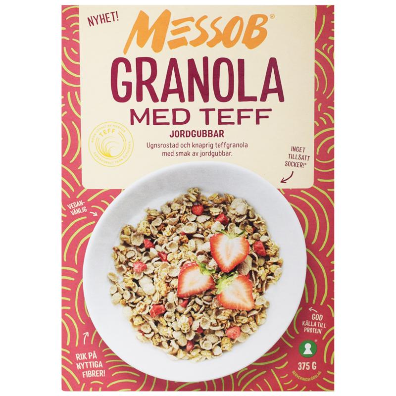 Granola Teff Jordgubbar 375g - 62% rabatt