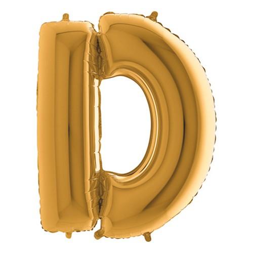 Bokstavsballong Guld - Bokstav D