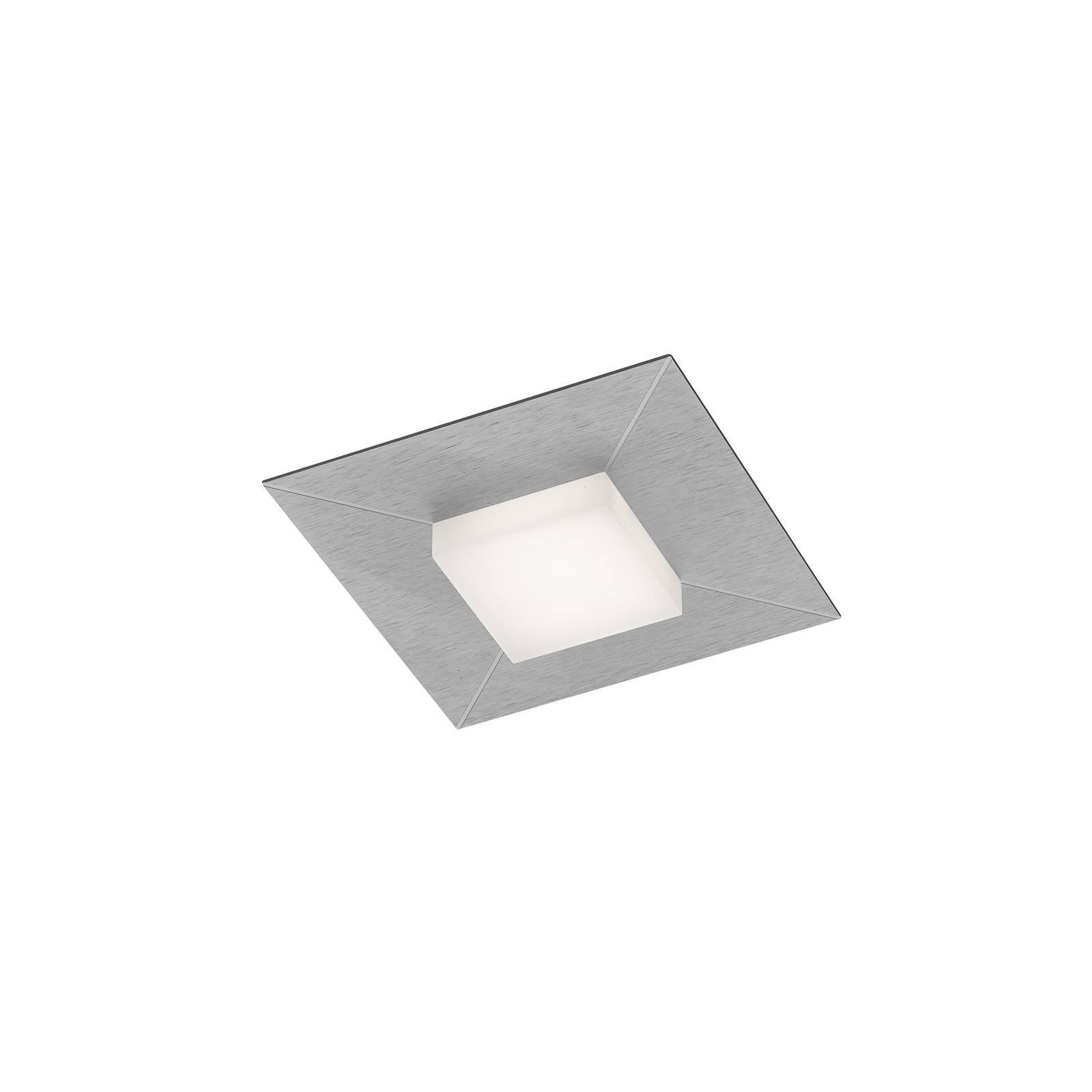 BANKAMP Diamond taklampe 17x17 cm, sølv