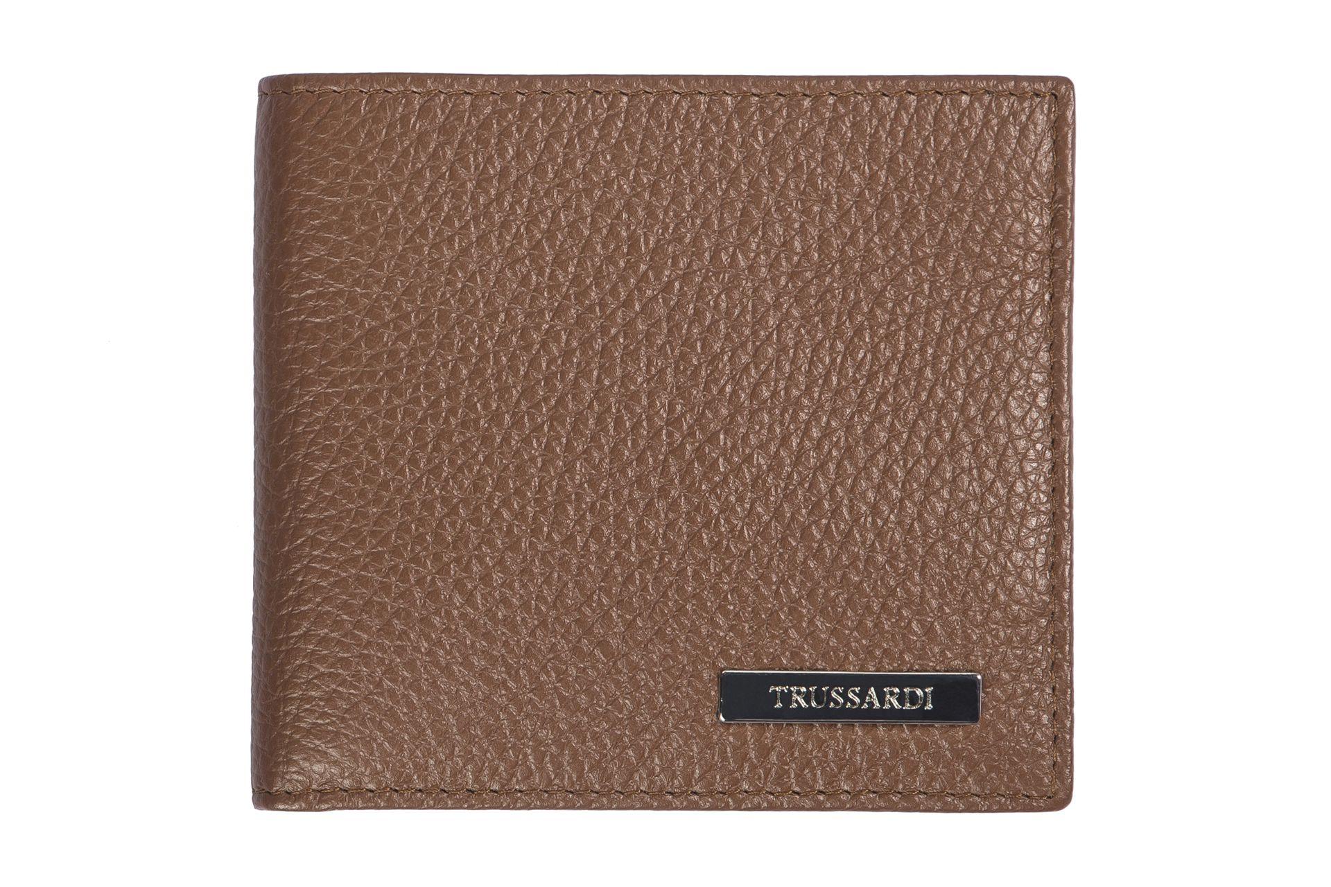 Trussardi Men's Wallet Beige 72P026_69DarkBrown