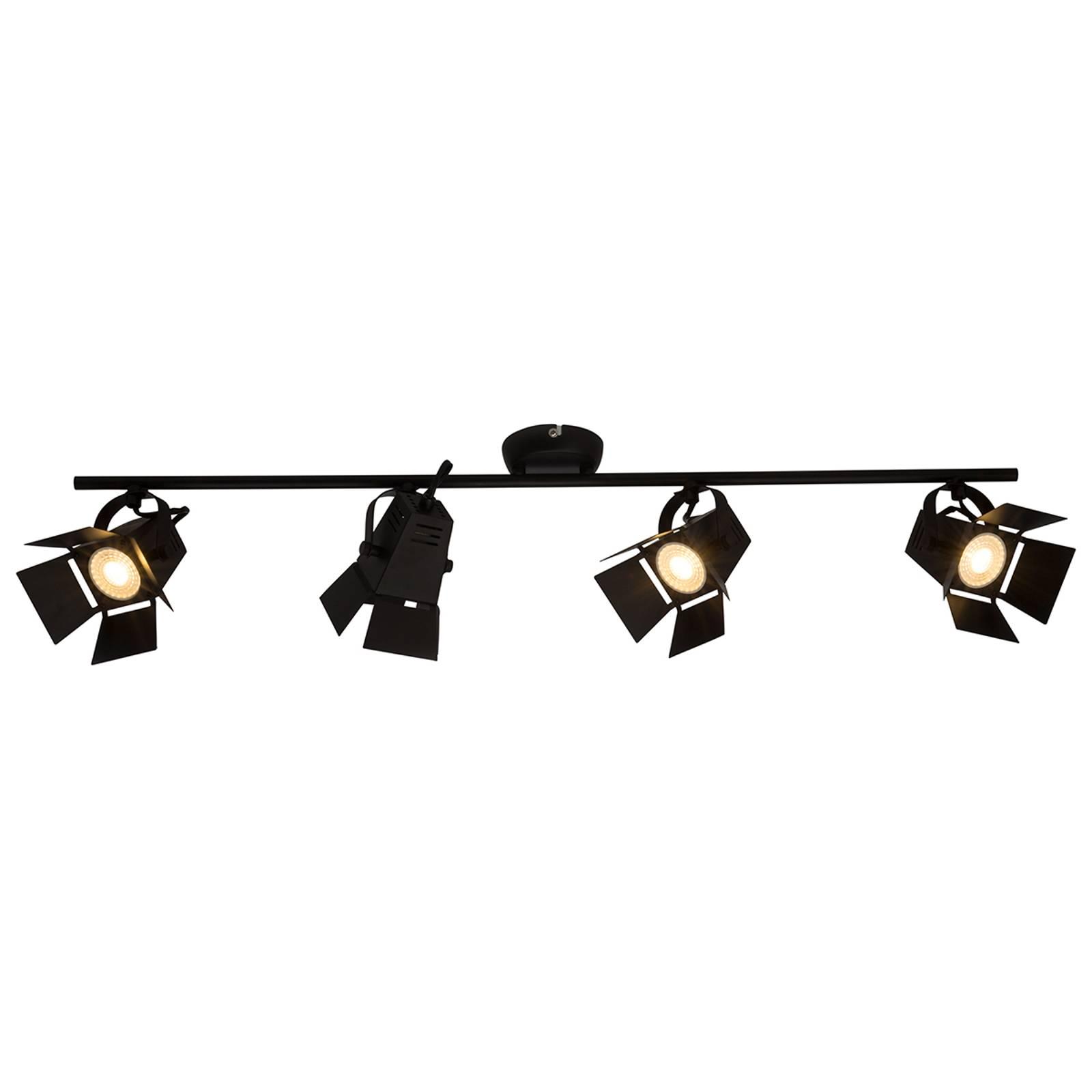 Movie – moderni-LED-kattospotti, musta