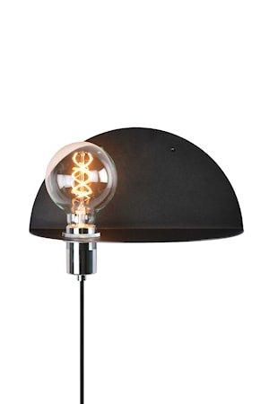 Walldorf Vegglampe Svart
