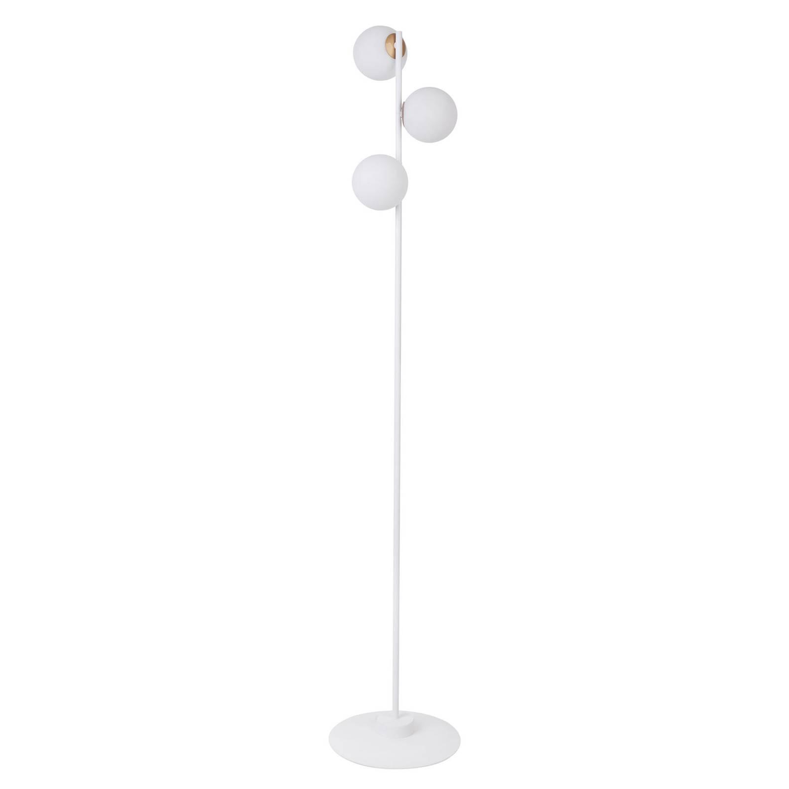 Lattiavalaisin Gama 3, valkoinen, kolme lasipalloa