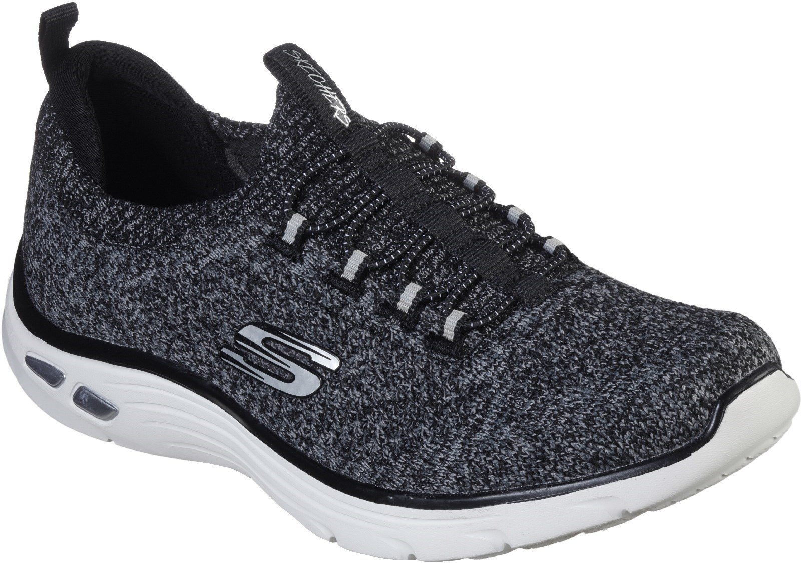 Skechers Women's Relaxed Fit Empire D'Lux Sharp Trainers Various Colours 30300 - Black/White 3