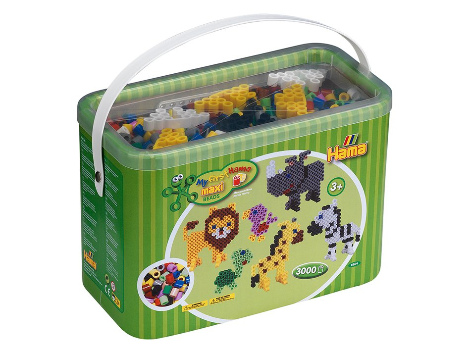 Hama Beads - Maxi - Beads and Pegboards in Bucket (8804)
