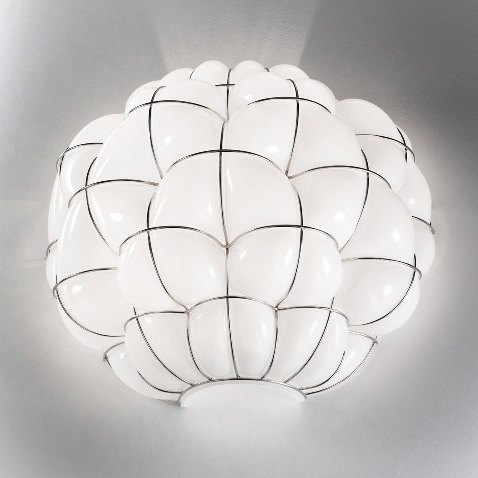Vegglampe Pouff i hvitt og rustfritt stål
