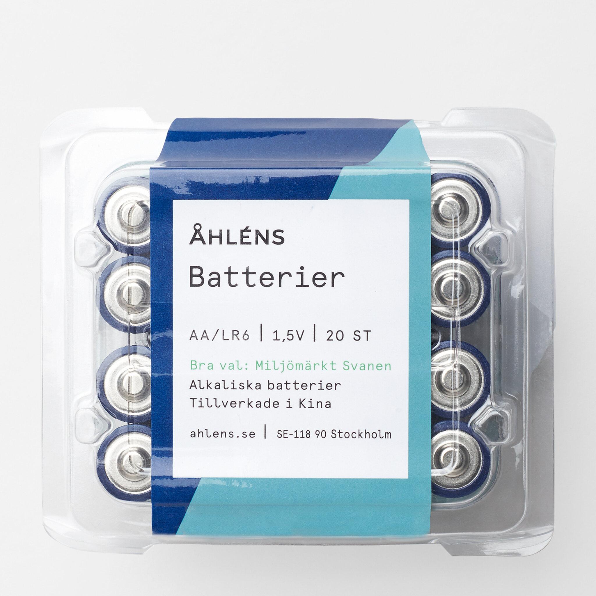 Batterier AA, 20 st