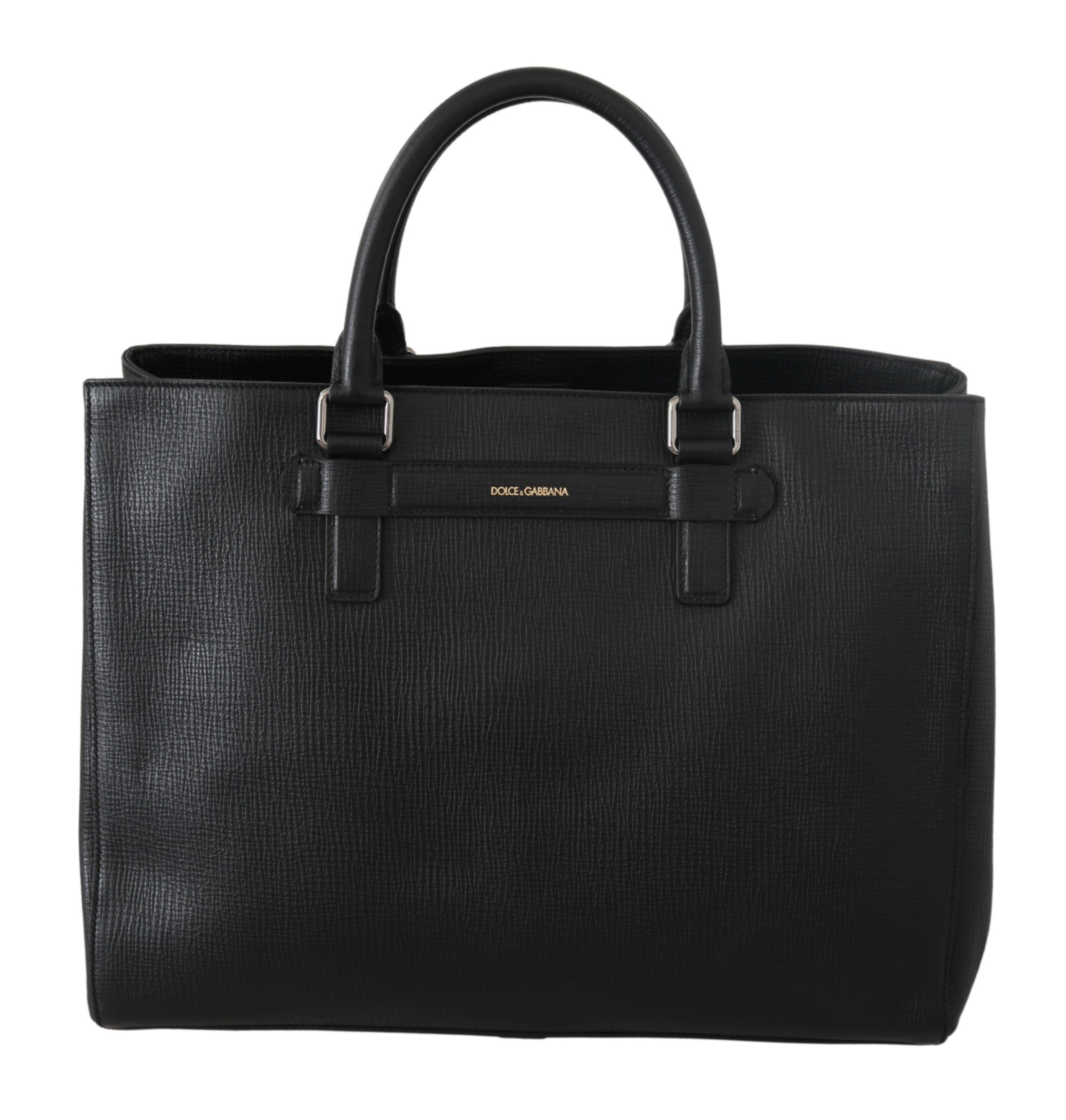 Dolce & Gabbana Men's Messenger Leather Travel Bag Black VAS9233