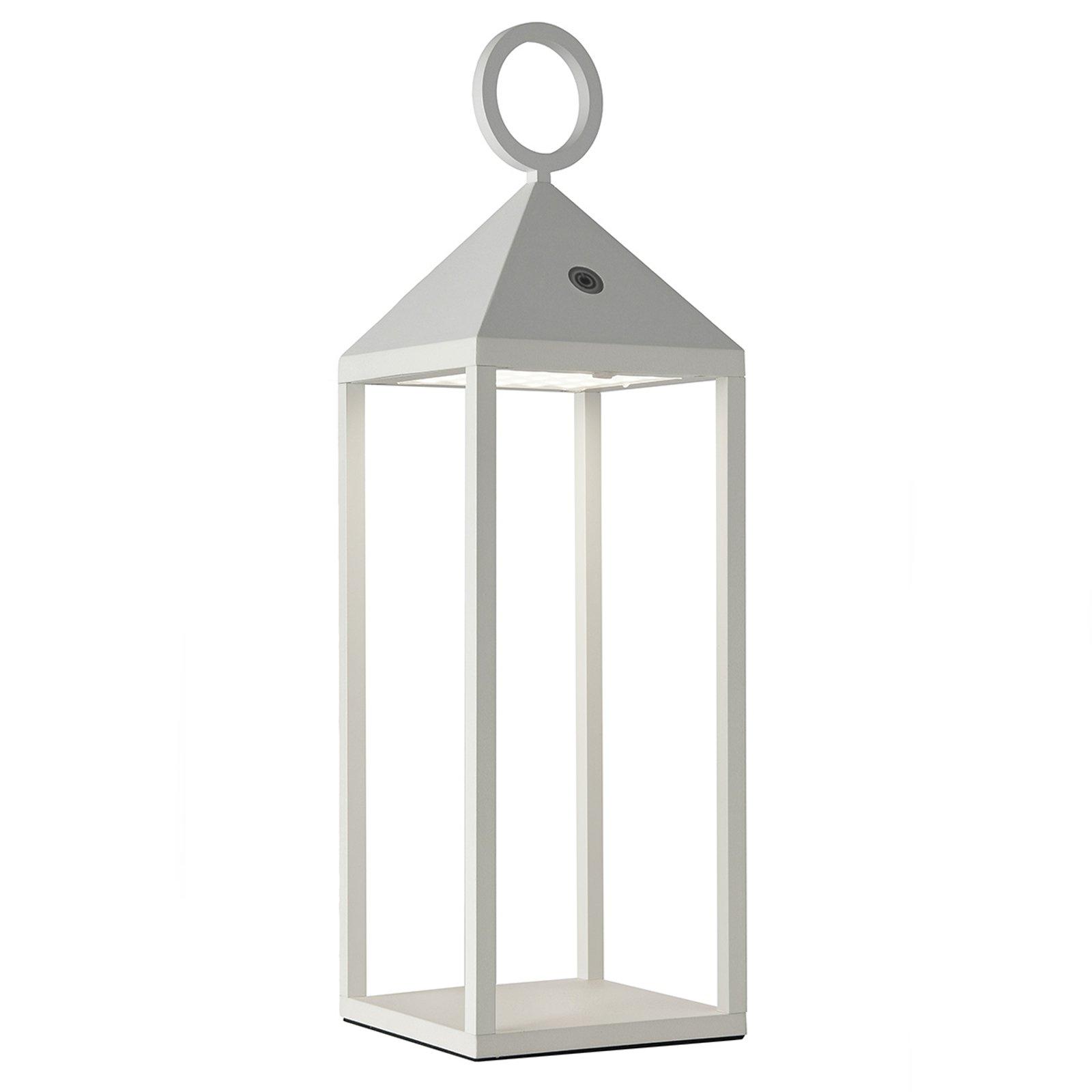Utendørs LED-bordlampe Cargo, hvit, høyde 47 cm