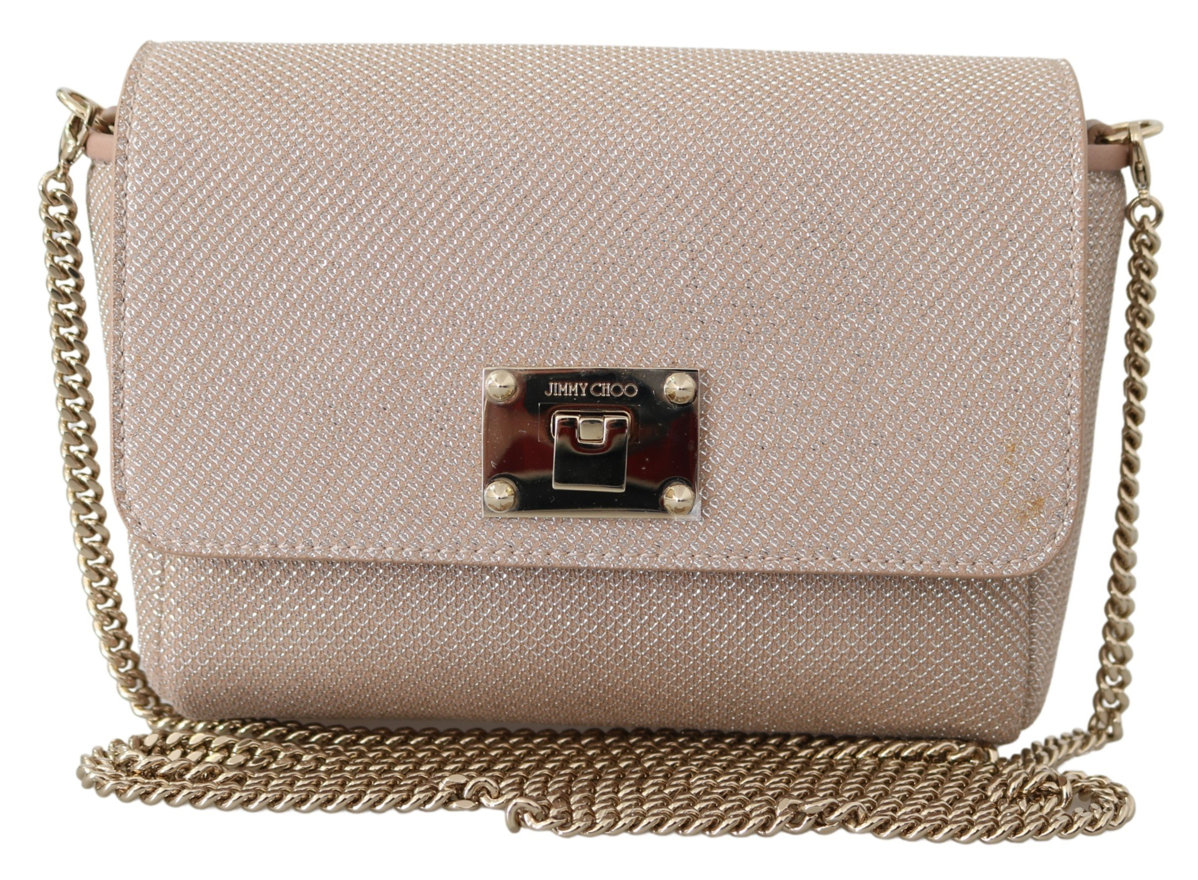 Jimmy Choo Women's Ruby Lace Crossbody Bag Powder Pink 1436027