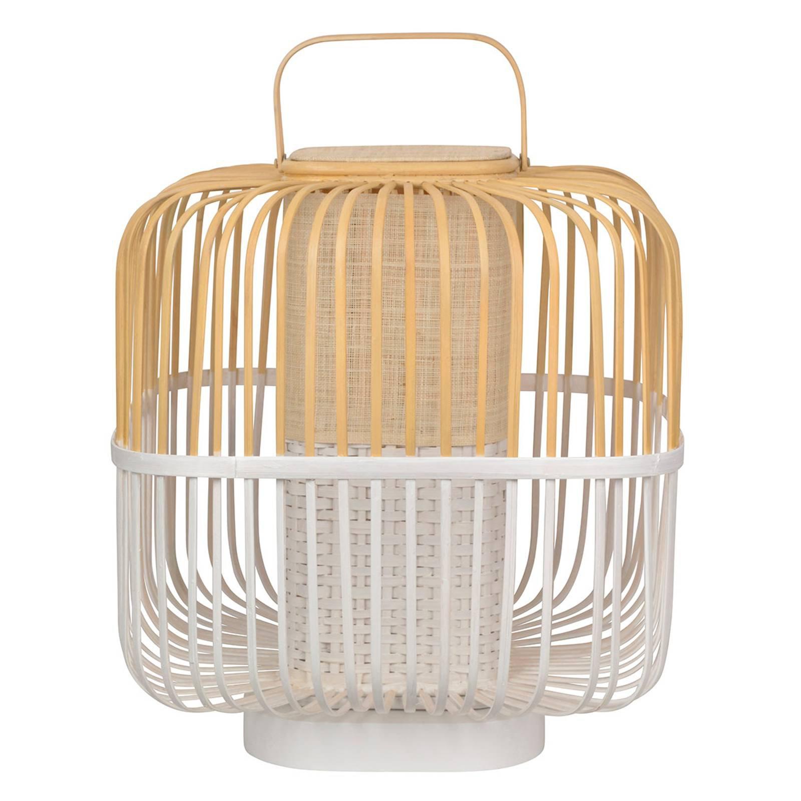 Forestier Bamboo Square M bordlampe i hvit