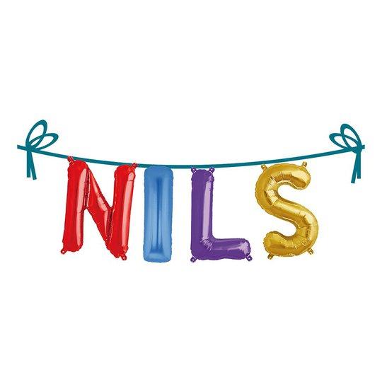 Ballonggirlang Folie Namn - Nils