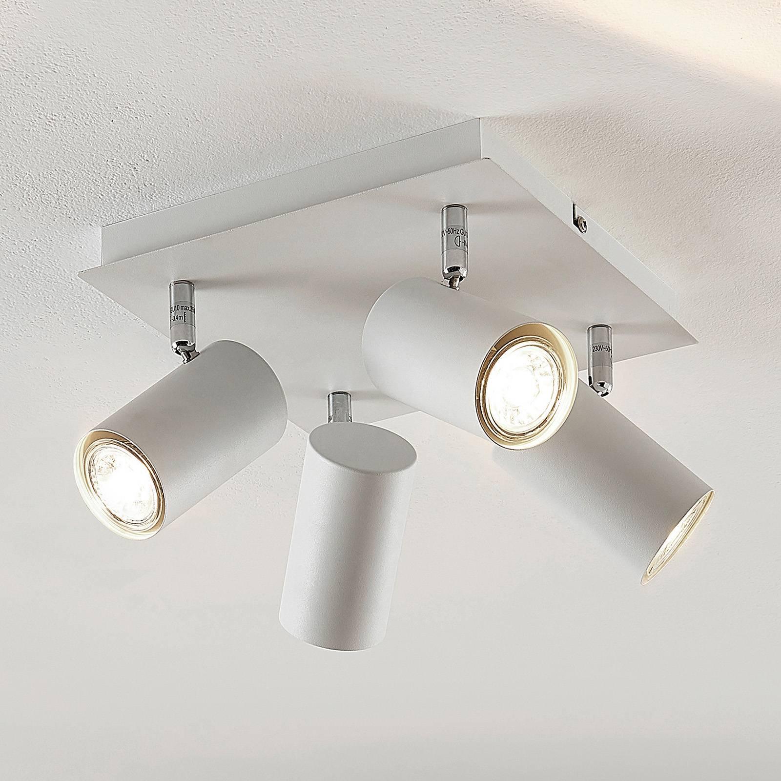 Lindby Joffrey taklampe, fire lys, hvit