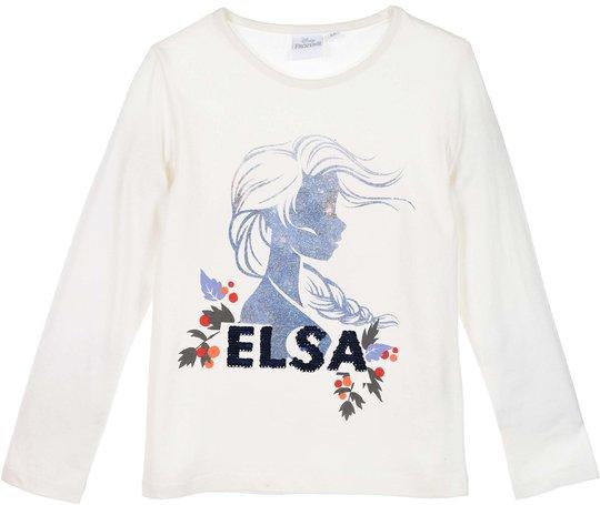 Disney Frozen T-Shirt, Off White, 4 År