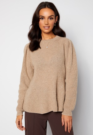 ONLY Stacy L/S O-Neck Pullover Pumice Stone Det. Me XS