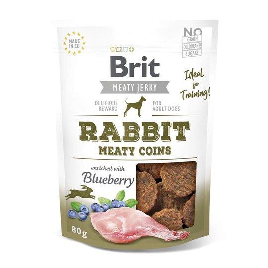 Brit Care Meaty Jerky Coins Rabbit 80 g