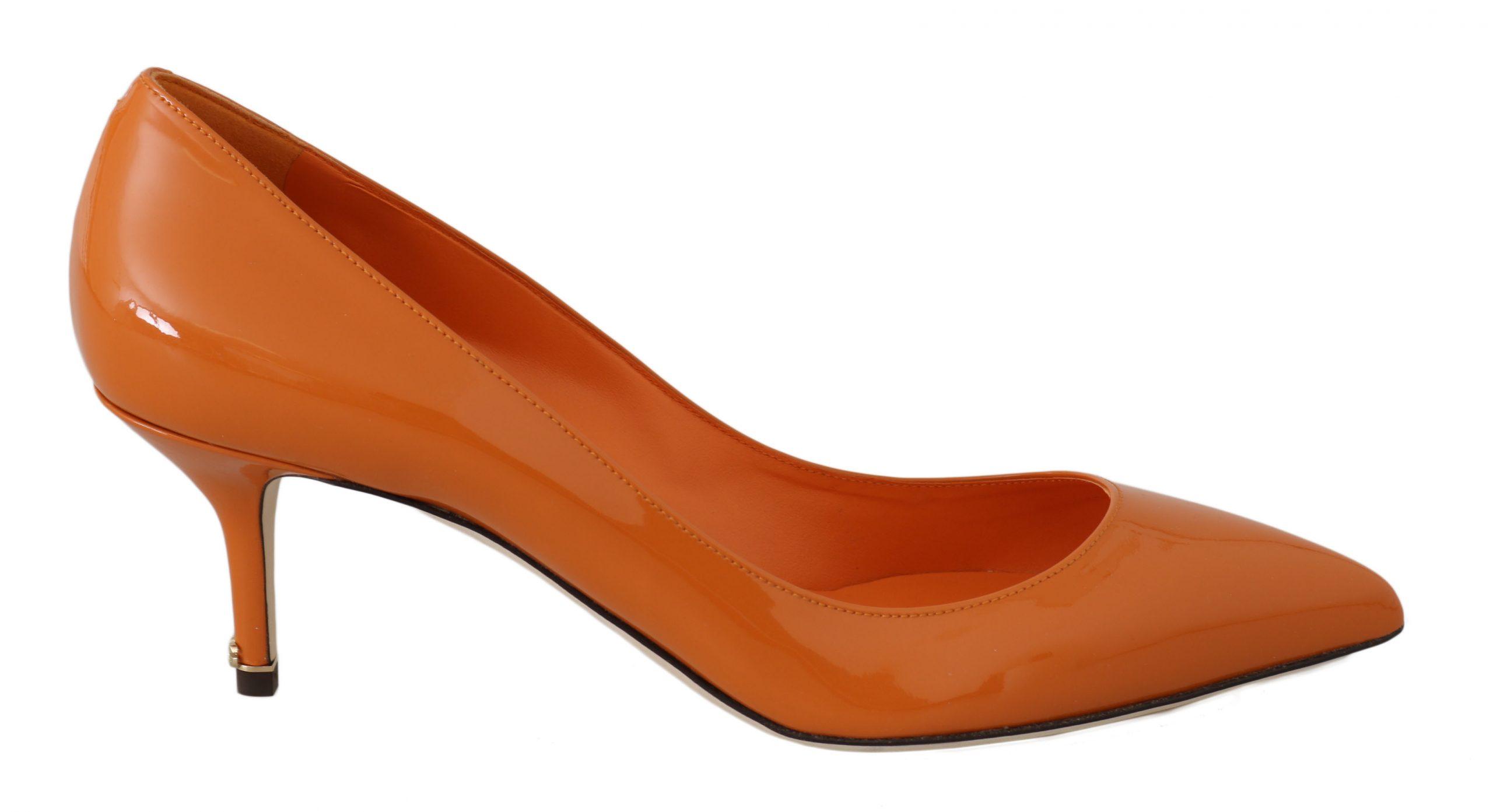 Dolce & Gabbana Women's Patent Leather Heels Orange LA5968 - EU40.5/US10