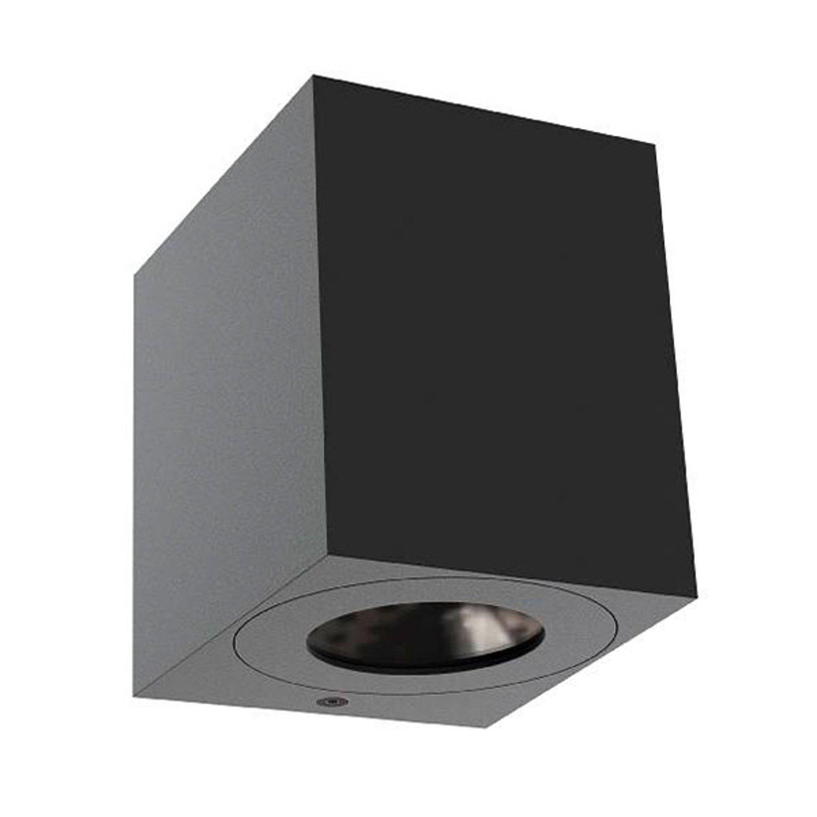 Utendørs LED-vegglampe Canto Kubi 2, 10 cm, svart