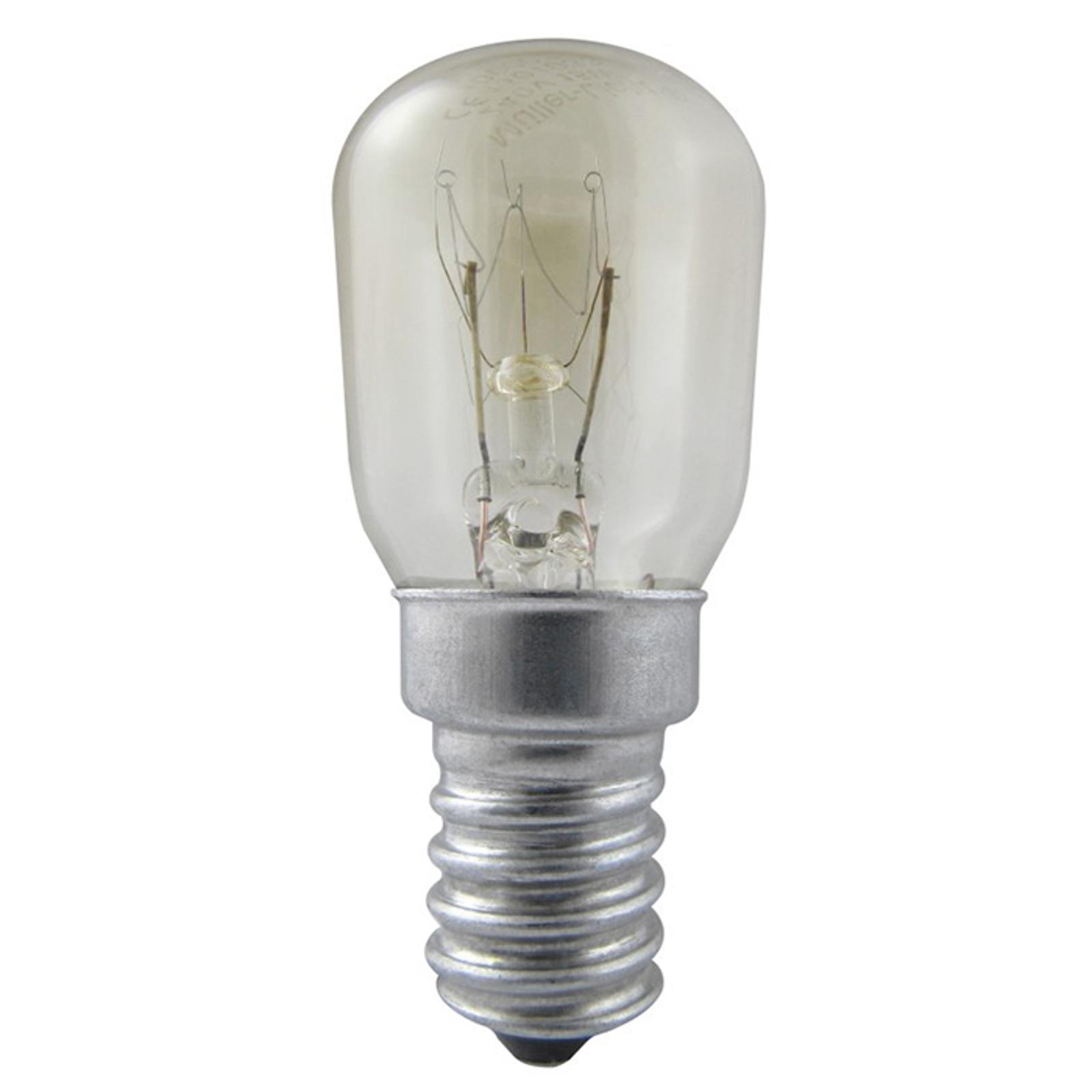 E14 25W Jääkaapin lamppu, kirkas, lämmin valkoinen