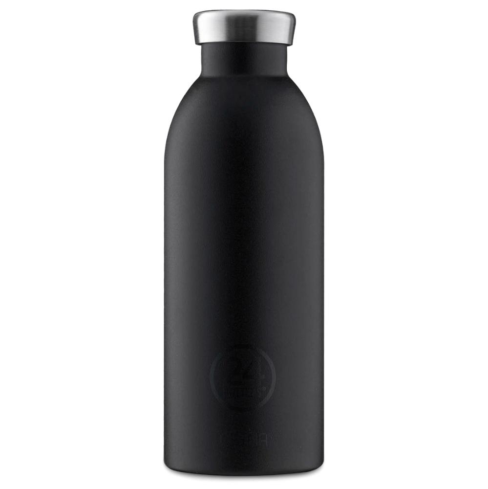 24 Bottles - Clima Bottle 0,5 L - Stone Finish - Tuxedo Black (24B557)