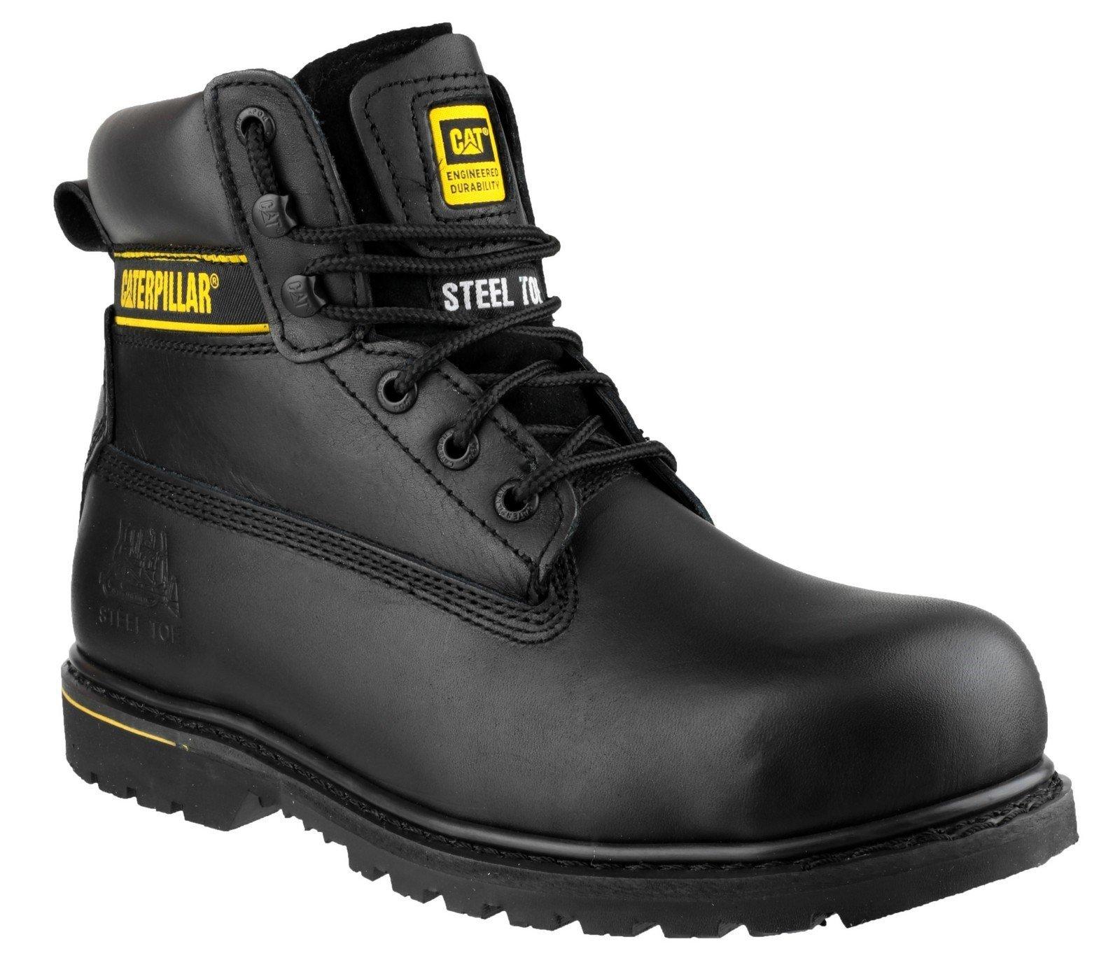 Caterpillar Men's Holton Safety Boot Black 12806 - Black 6