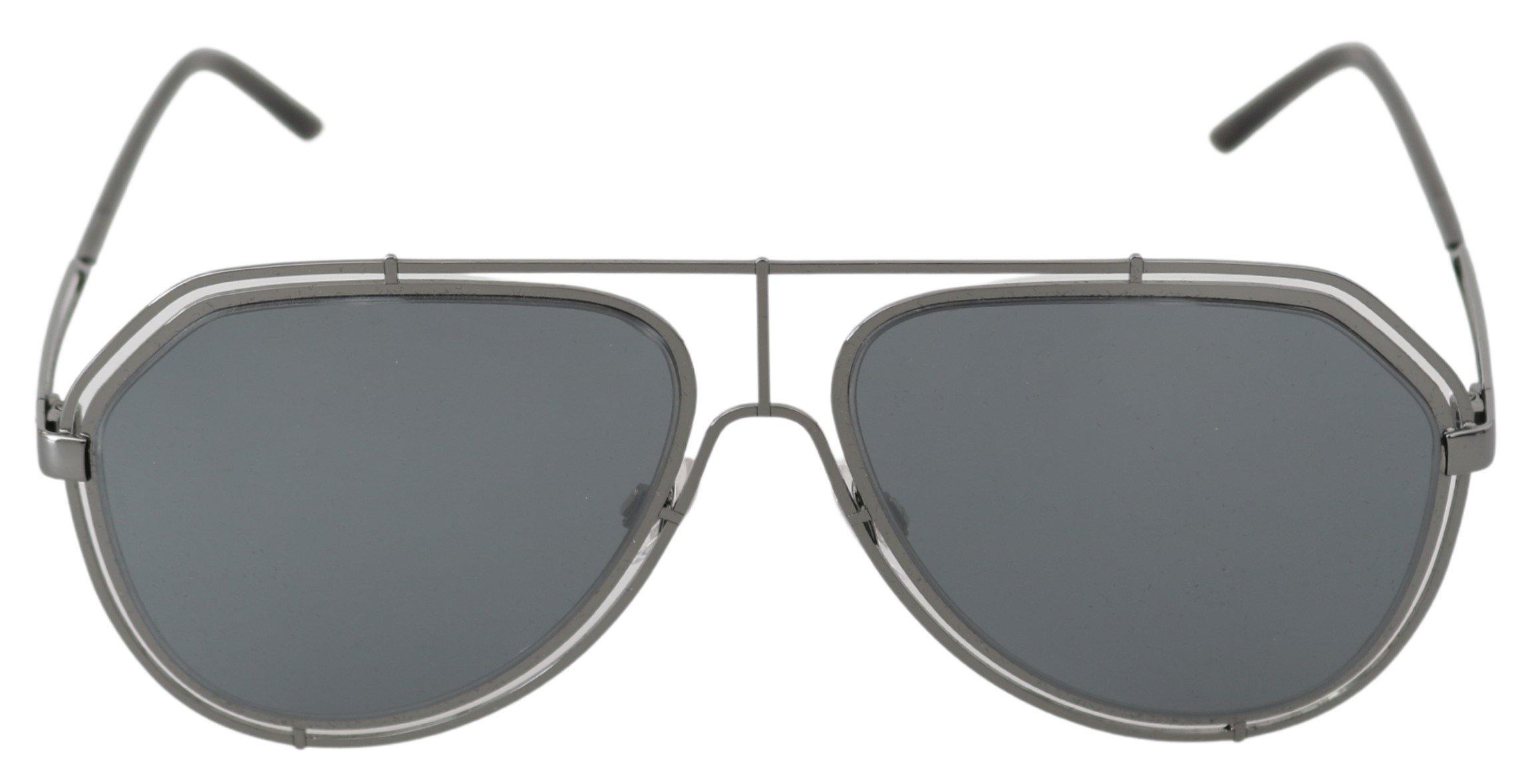 Dolce & Gabbana Women's Logo Pilot Aviator Sunglasses Gray GLA765
