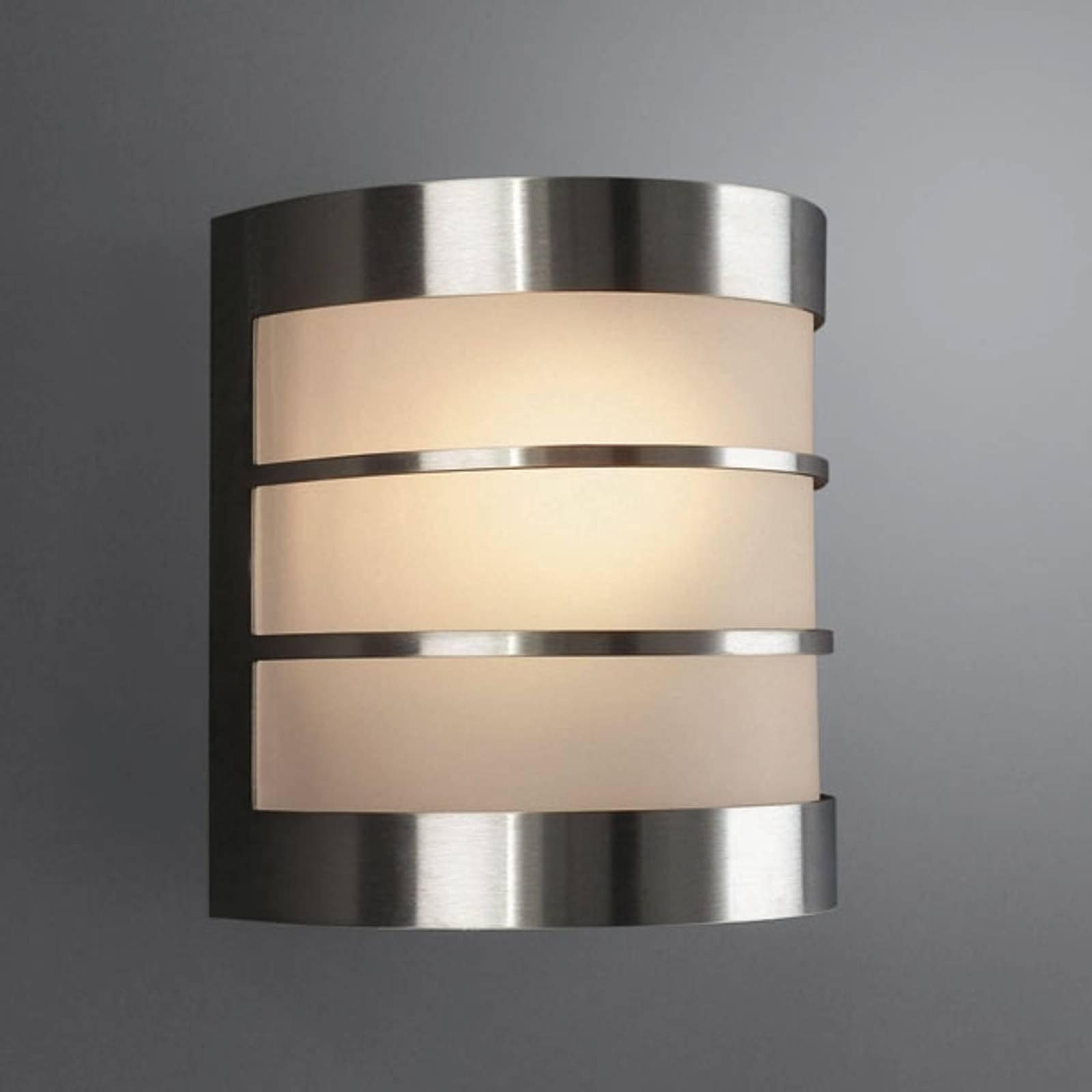 Lettstelt CALGARY utelampe i rustfritt stål