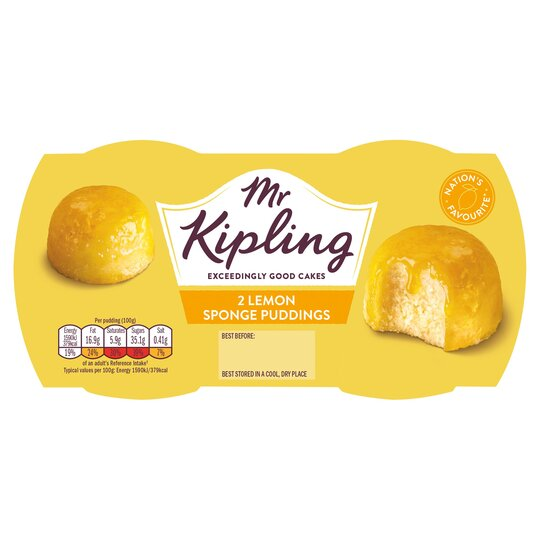 Mr. Kipling Lemon Sponge Puddings 2x95g