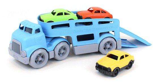 Green Toys Biltransport + 3 Biler