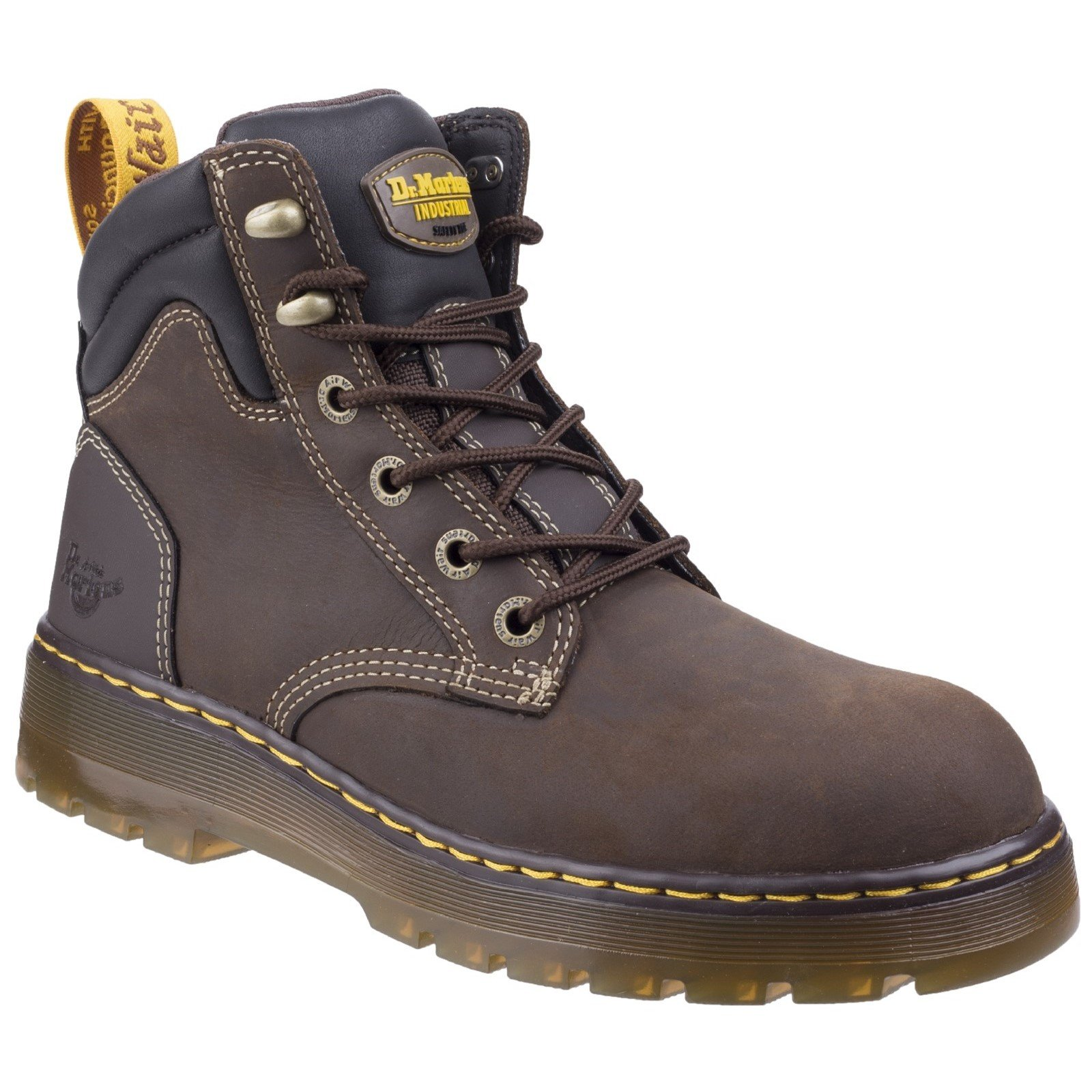 Dr Martens Unisex Brace Hiking Style Safety Boot Various Colours 27702-46606 - Dark Brown Republic 12
