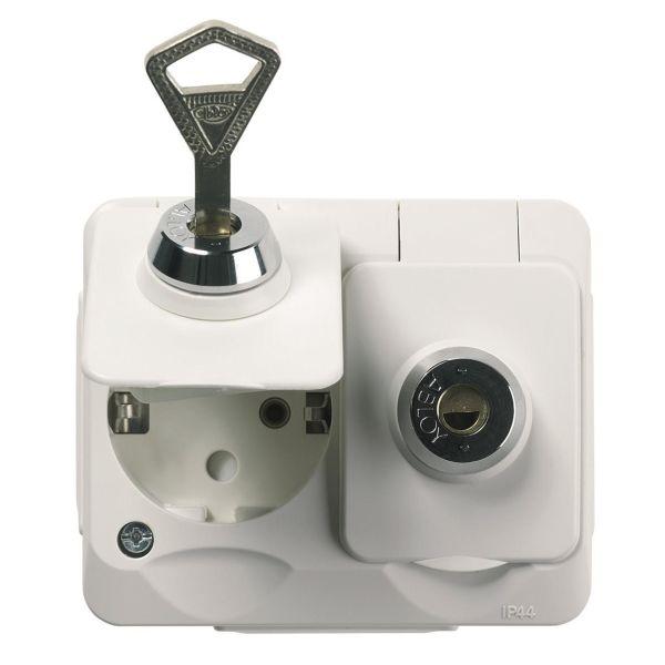 Schneider Electric Aqua Stark PV Vekkuttak 2-veis, lås