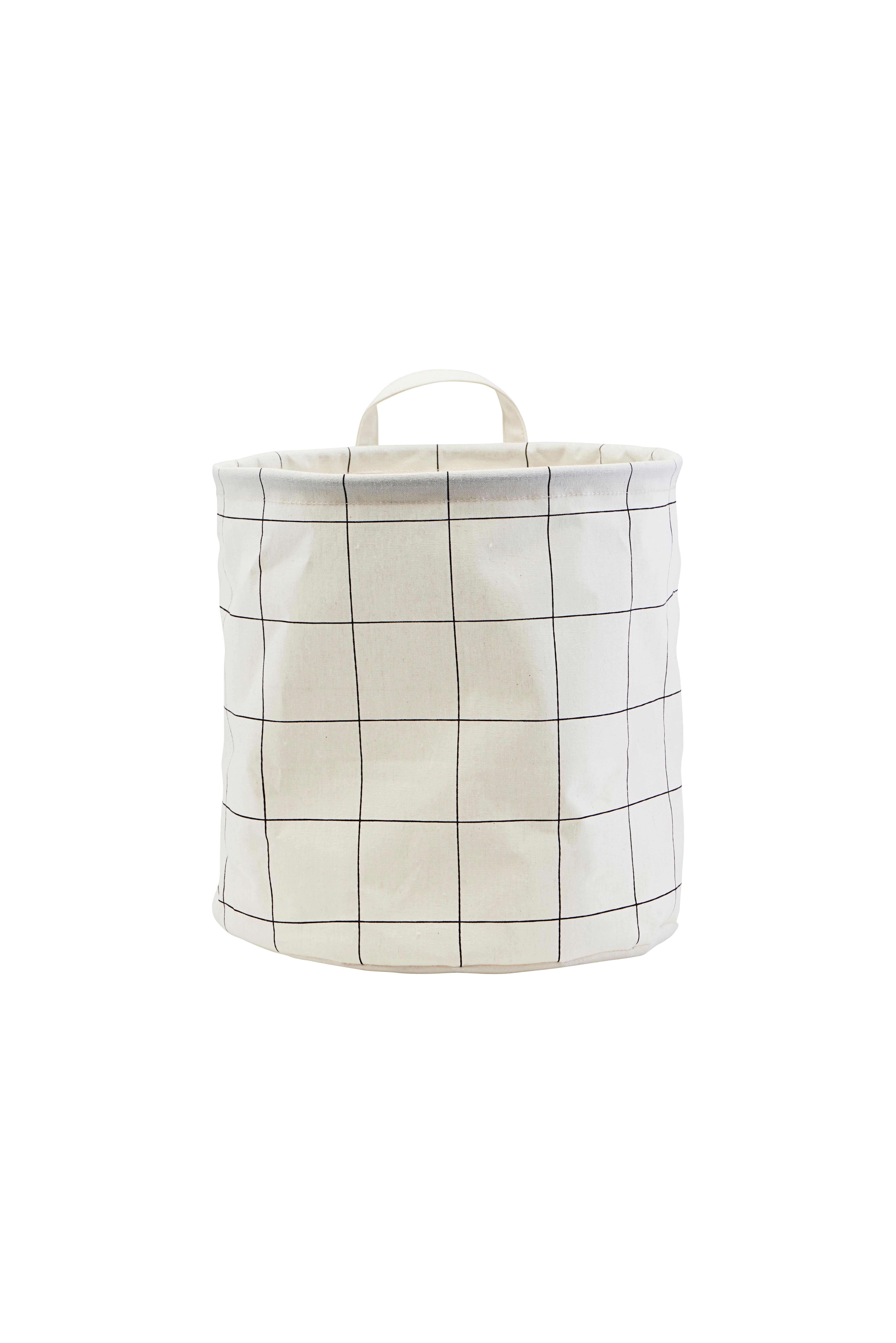 House Doctor - Storage Bag Squares Medium - White (LS0351)