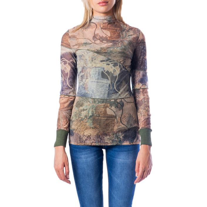 Desigual Women's T-Shirt Green 176579 - green XL