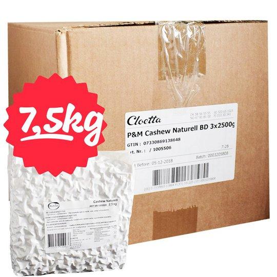 Laatikollinen cashew-pähkinöitä 3x2500g - 71% alennus