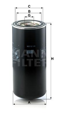 Öljynsuodatin MANN-FILTER WD 13 145