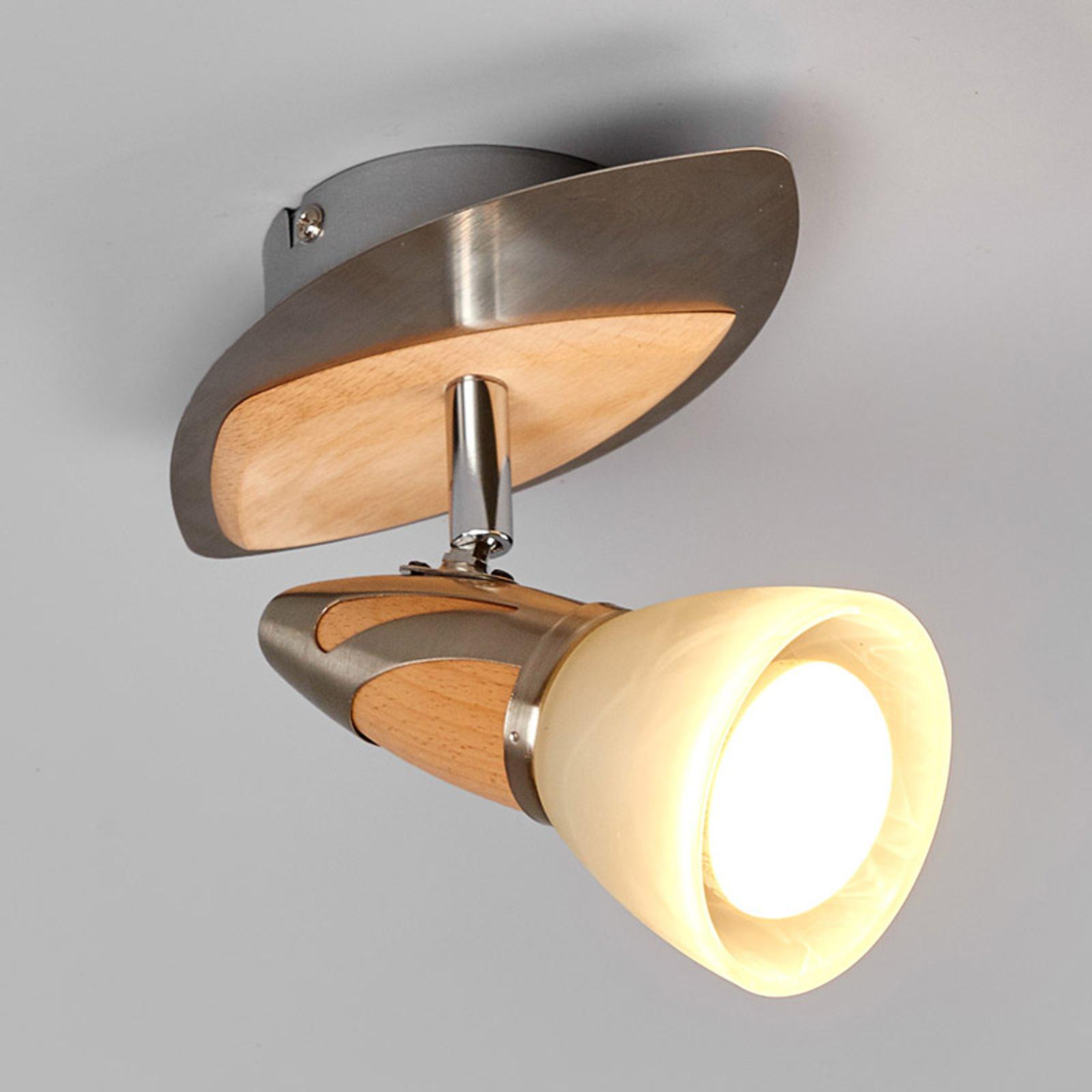 Spotti Marena, puuapplikoinnit, E14 R50 LED