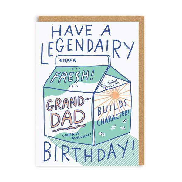 Grandad Legendairy Birthday Greeting Card