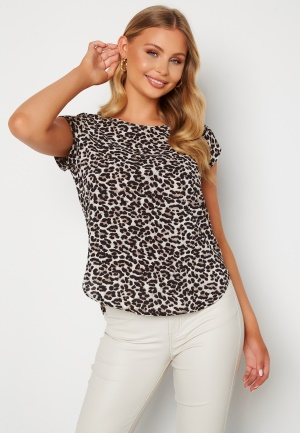 ONLY Vic SS Aop Top Pumic Stone Leopard 36