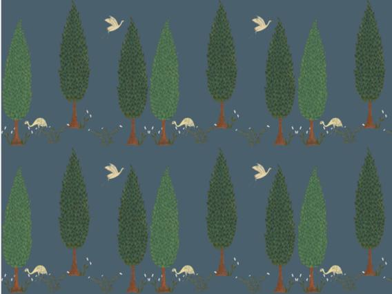 Tranquility Wallpaper Sample: Star Shine Blue-TR190SBS Blue