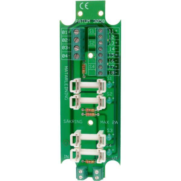 Alarmtech 3058.03 Sikringsklemme 1 inn-4 ut, avsikret