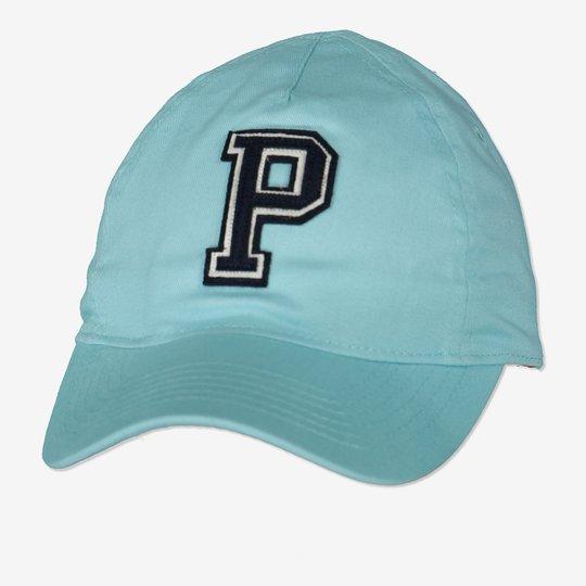 Caps med p-applikasjon lysturkis