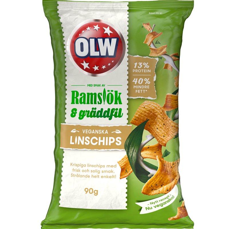 Linschips Ramslök & Gräddfil - 25% rabatt