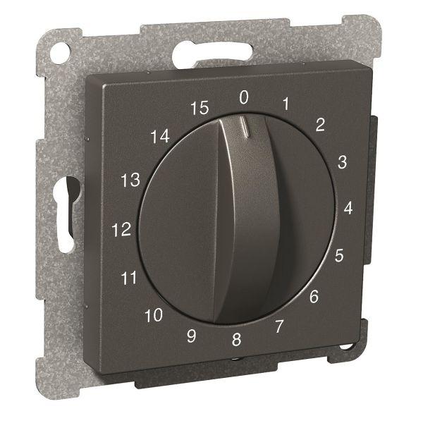 Schneider Electric Exxact Timer mekanisk, 0–15 min Antrasitt
