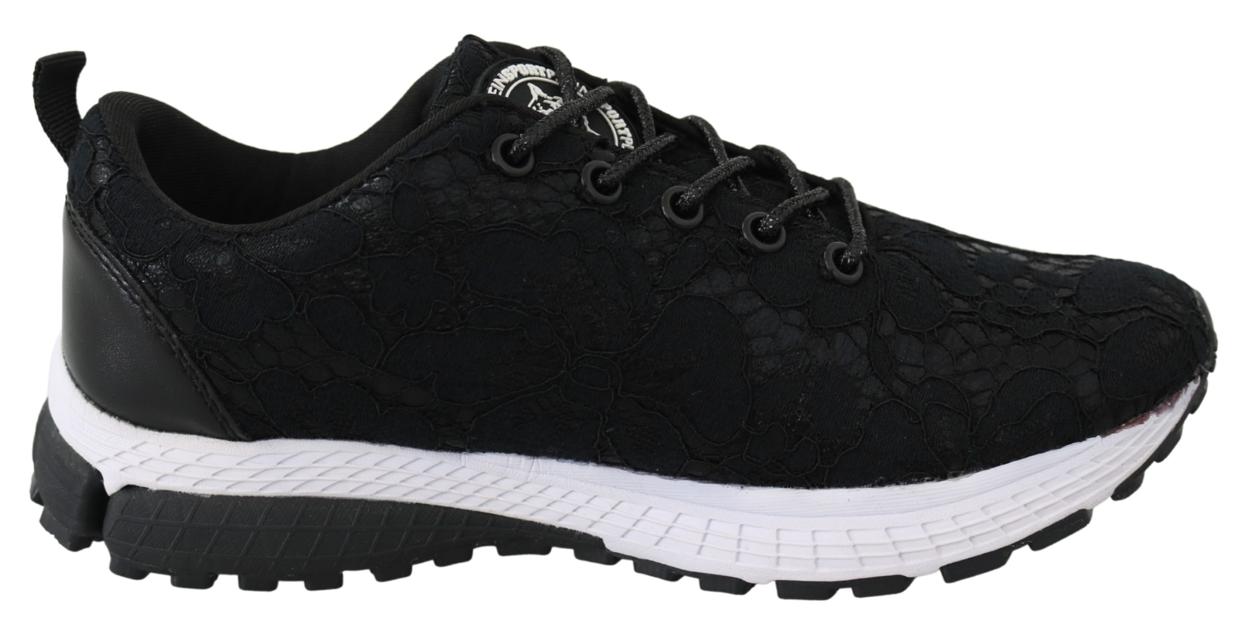 Black Polyester Runner Umi Sneakers Shoes - EU36/US6