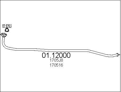 Pakoputki MTS 01.12000