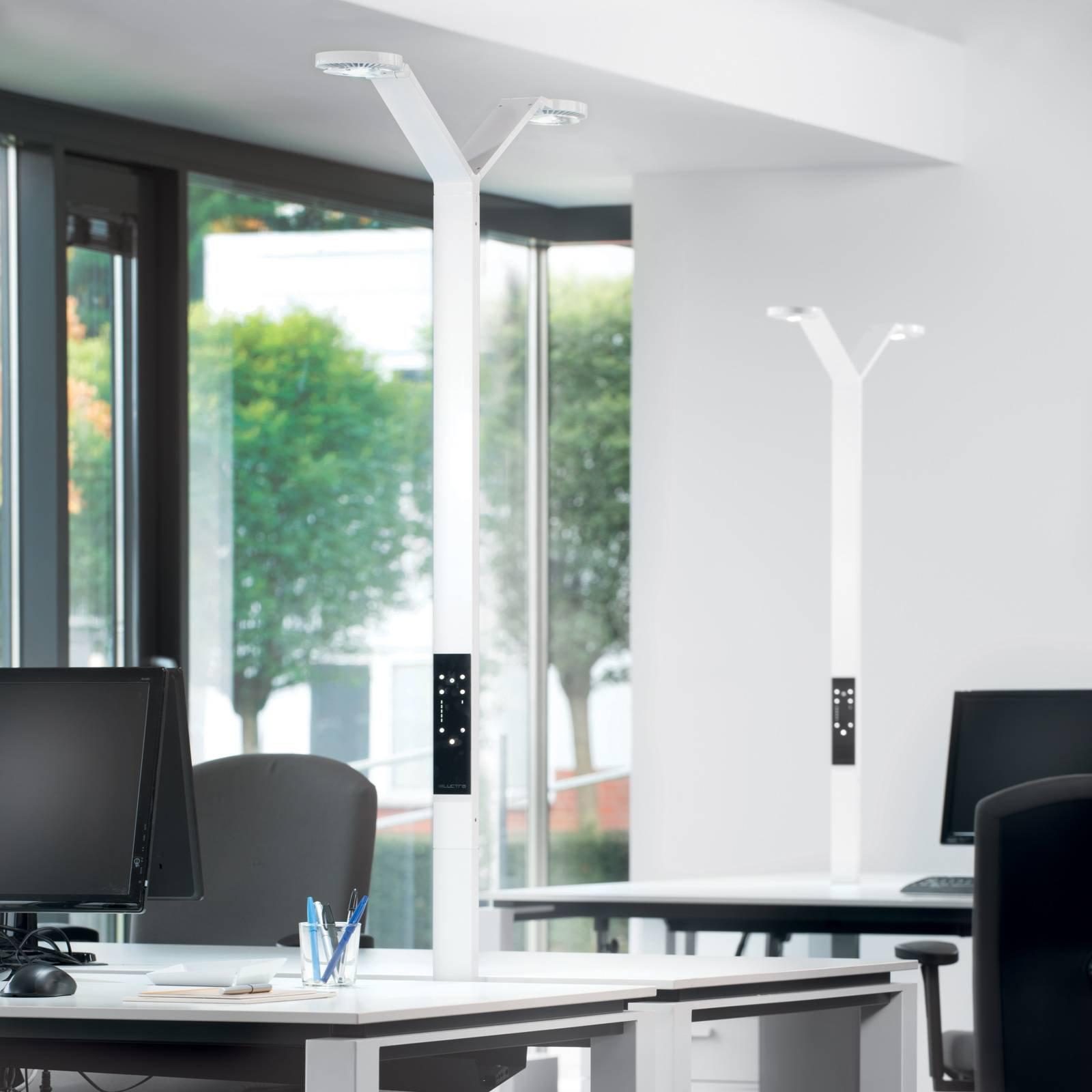 Luctra Floor Twin Radial LED-gulvlampe hvit