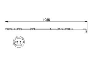 Kulumisenilmaisin, jarrupala, Taka-akseli, Takana, BMW 7 [F01, F02, F03, F04], 34 35 6 775 858