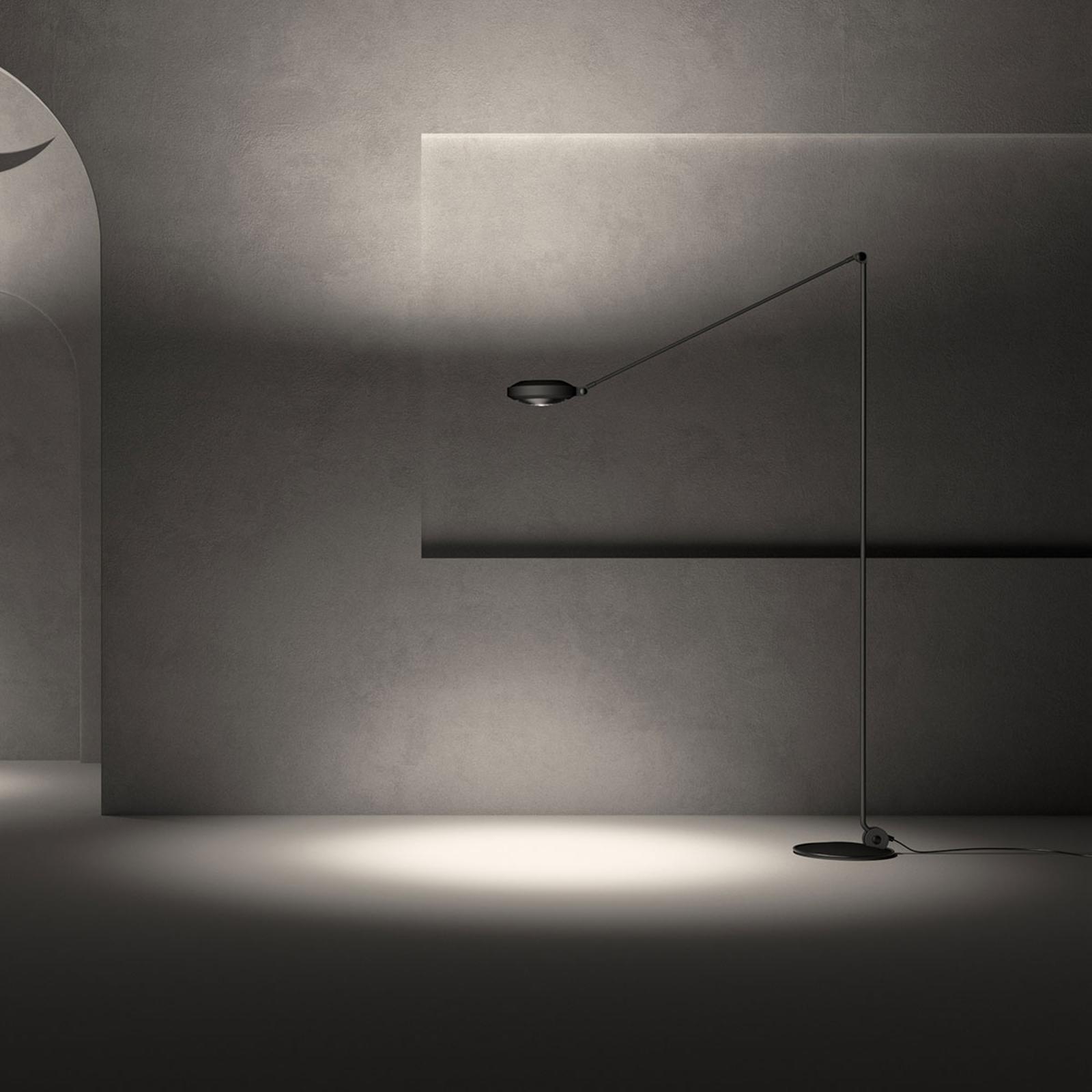 Lumina Elle -LED-lattiavalo, 200 cm, musta