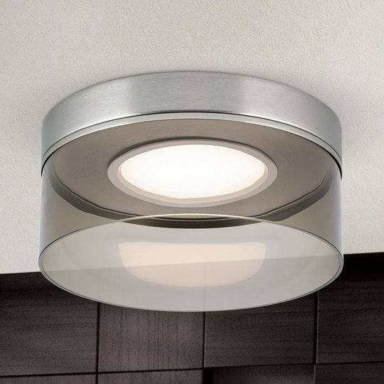 LED-kattovalaisin Francis, mattanikkeliä, Ø 30 cm