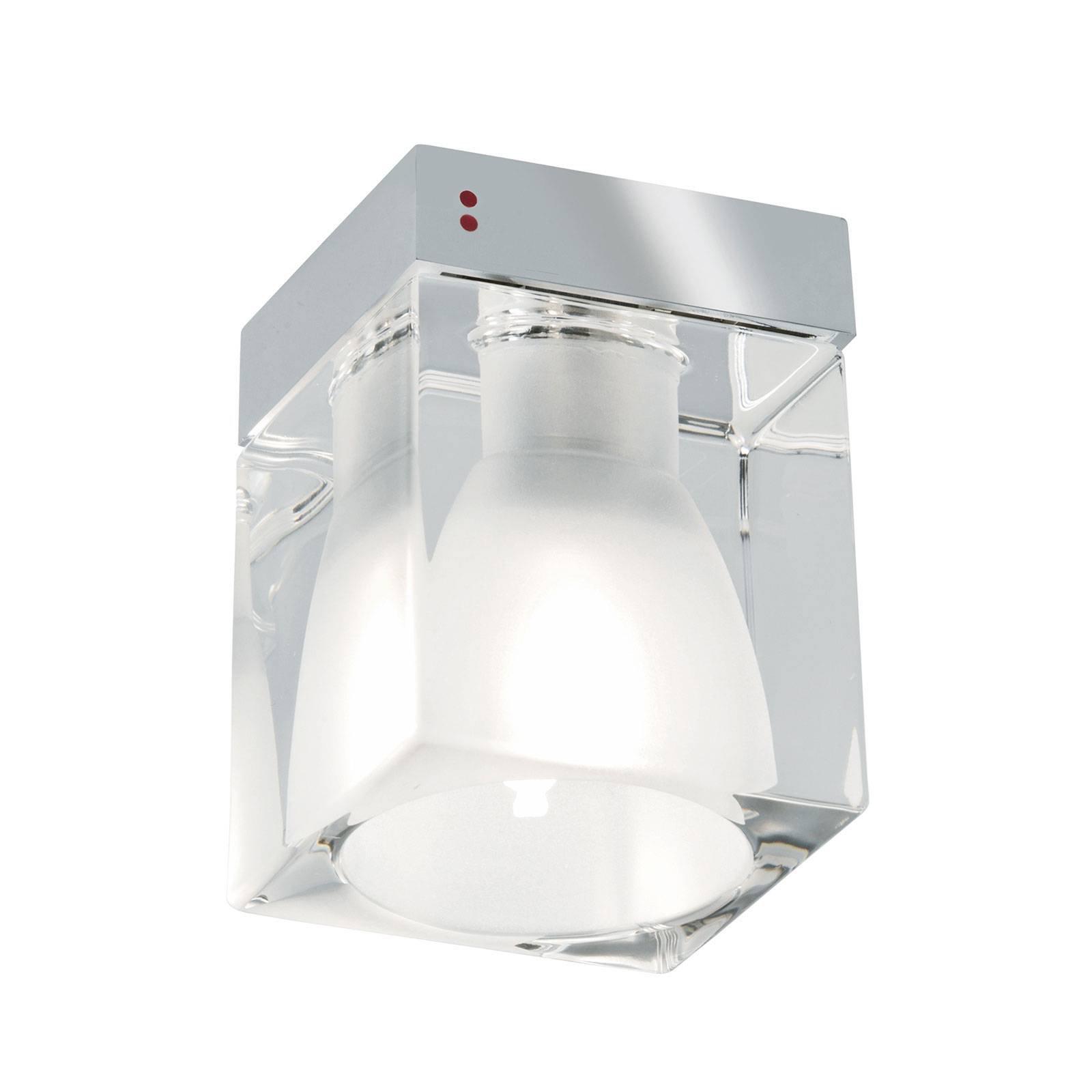 Cubetto taklampe 1 lyskilde, klar